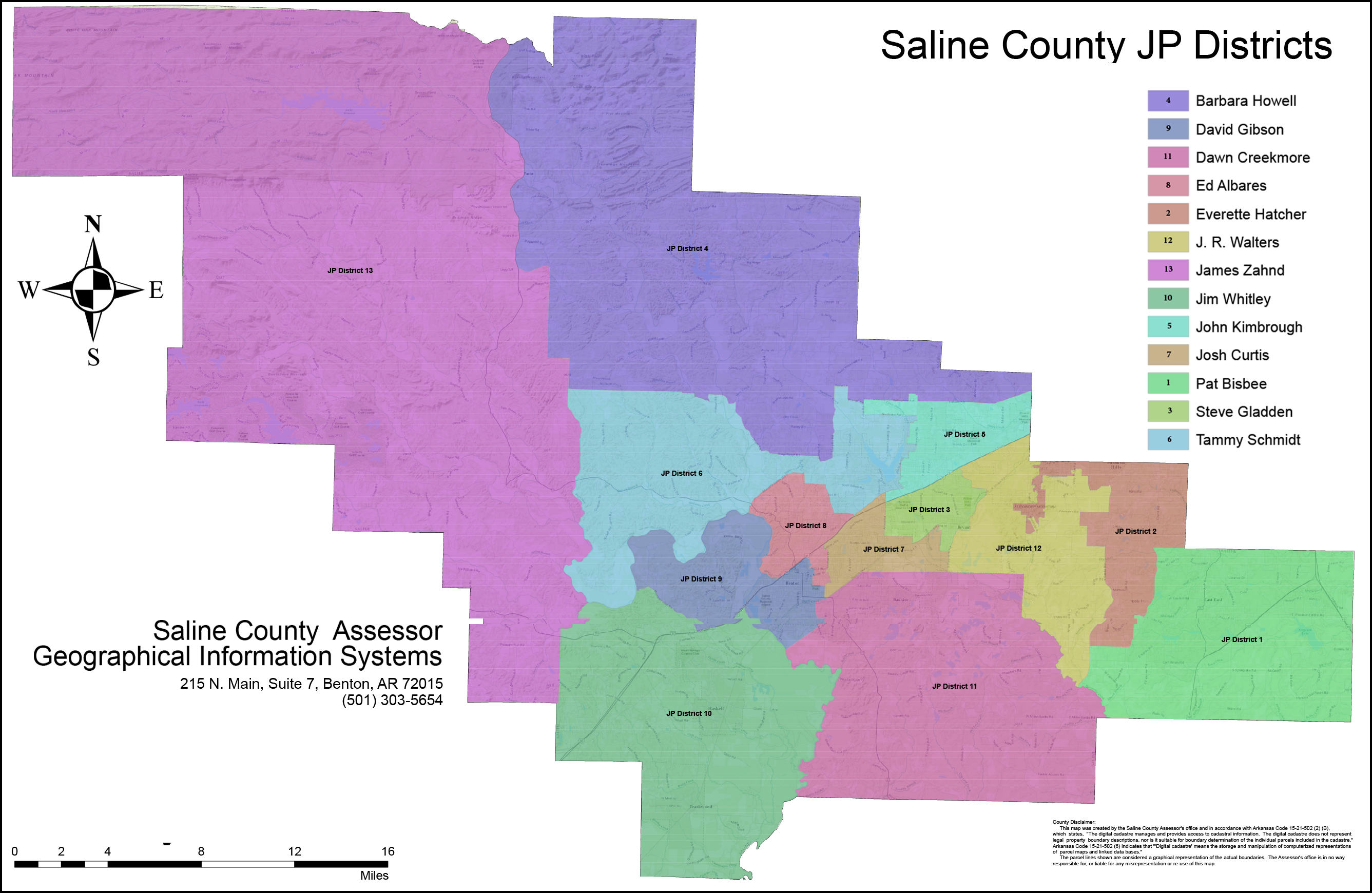 saline county arkansas map Maps