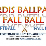 Sign Up in July for Fall Ball at Sardis Ballpark
