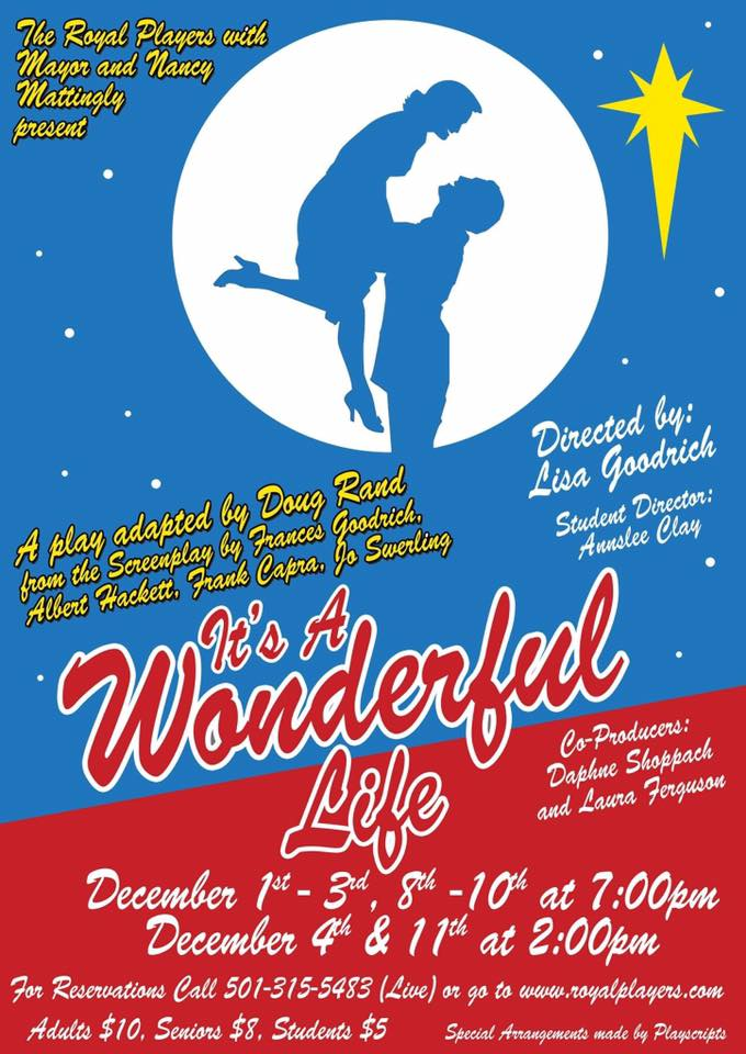 Royal Players To Present It S A Wonderful Life In Dec 1 4 8 11