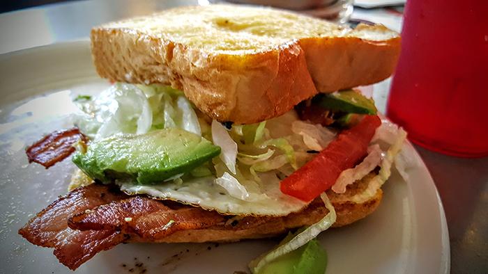 Tito's BLT w Fried Egg & Avocado