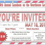 """Courthouse Lawn"" Luncheon for Single Parent Scholarships Is May 18th"