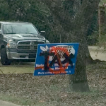 Someone is destroying Bryant Millage campaign signs with spray paint