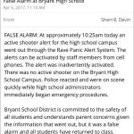 Bryant Schools Says Active Shooter Situation Was a False Alarm