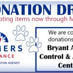 Bryant Business Collecting Supplies for Animal Shelter