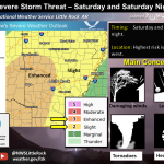 Storms Predicted: Saline County Has a Slight Chance Friday; Enhanced Chance Saturday