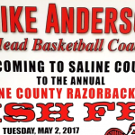 Saline County Razorback Club Fish Fry May 2nd Features Head Coach Mike Anderson