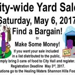 Shannon Hills Residents Having Yard Sales All on the Same Day, May 6th