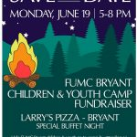 Go to Larry's Pizza Monday Night for Church Camp Fundraiser!