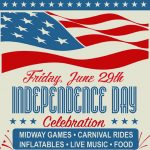 Independence Day Celebration June 29th in Haskell at Health Center: Music, Rides, Food, Fireworks