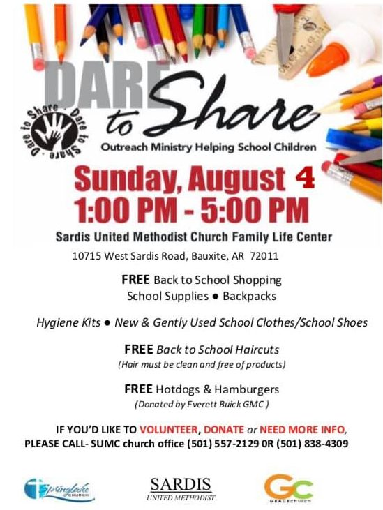Annual Dare to Share Back to School Event in Sardis Is