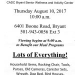 Bryant Senior Center to Hold Auction Thursday Morning to Fund Meal Programs