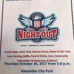 City of Alexander to Host National Night Out on Oct 26th