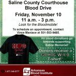Give Blood 11-3 at the Saline County Courthouse Friday