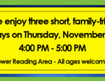 See Three Short Plays from Children's Theater & Drama Teens Nov 30th