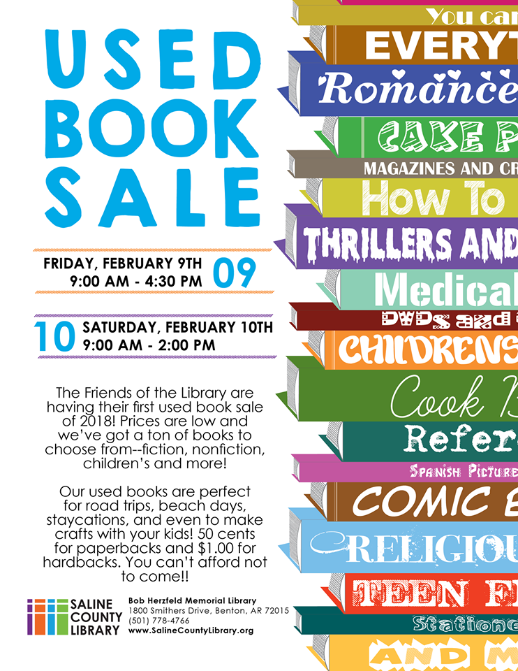 Benton Library to Host Used Book Sale on Fri and Sat