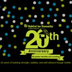 Habitat for Humanity to Celebrate 20 Years on March 29th
