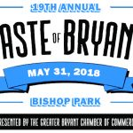 "Annual ""Taste of Bryant"" Eating Event Comes Early for 2018 – May 31st"