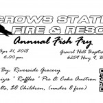 Crows Station Fire & Rescue to Hold Annual Fish Fry on Saturday Night!