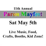 Paron Mayfest on May 5th to Feature Live Music, Food, Booths, Kid Zone