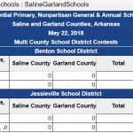 Saline/Garland County Votes – Primary Election May 22, 2018
