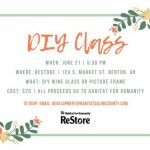 Paint a Wine Glass or Frame at this DIY Class June 21st to Benefit Habitat
