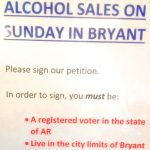 Signatures Sought for Sunday Alcohol Sales in City