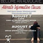 CASA of Saline County will hold Advocate Info Classes on Aug 7 & 8