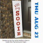 Paint a Porch Sign and Support Habitat in this DIY Class Aug 23rd in Benton