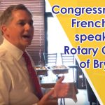 Video: Cong. Hill Speaks to Bryant Group on Bills, Bi-Partisan Efforts and More