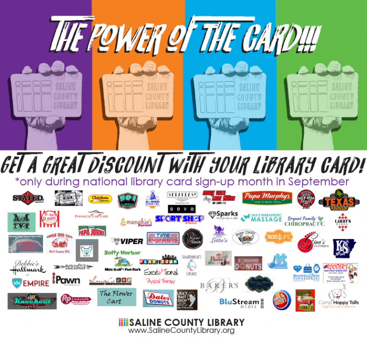 Get A Library Card In September And Get Discounts From