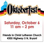 German Fare, Live Music & Hay Rides at Oktoberfest in Bryant Oct 6th