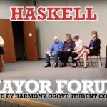 Video: Harmony Grove Student Council Hosts Haskell Mayor Candidate Forum