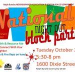 Ralph Bunche Neighborhood Association to Host National Night Out Event Tonight