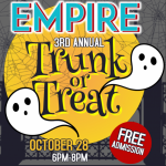 Empire's 3rd Annual Trunk or Treat Happens Sunday Oct 28th