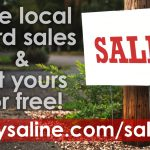 See the List of Saline County Yard Sales and Submit Your Own!