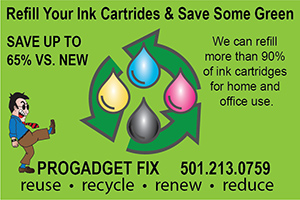 ProGadget Fix - Refill your printer ink cartridges. Bryant, Arkansas, 501-213-0759