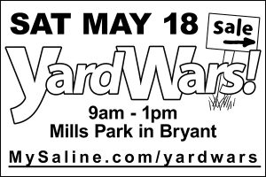 Yard Wars Saturday May 18, 2019 Mills Park Bryant Arkansas www.mysaline.com/yardwars