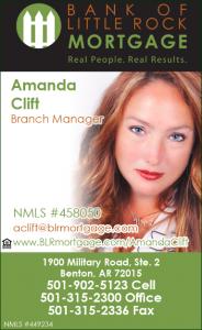 Amanda Mandy Clift Bank of LR Mortgage - MySaline Business Listings MBL