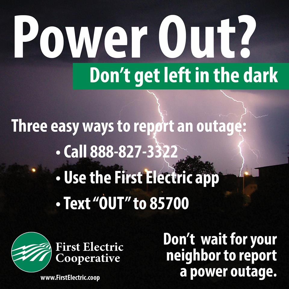 See The Full Instructions For 3 Ways To Report A Power Outage To First Electric