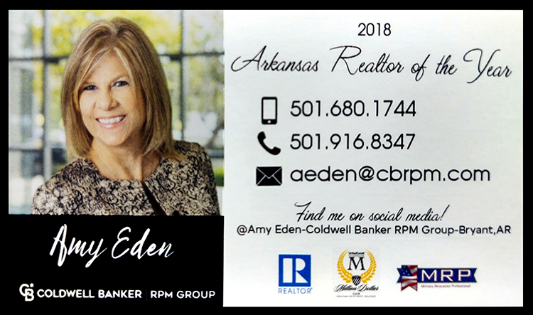Amy Eden Realtor, Coldwell Banker RPM Group Bryant, Arkansas - real estate, homes, houses, buy, sell