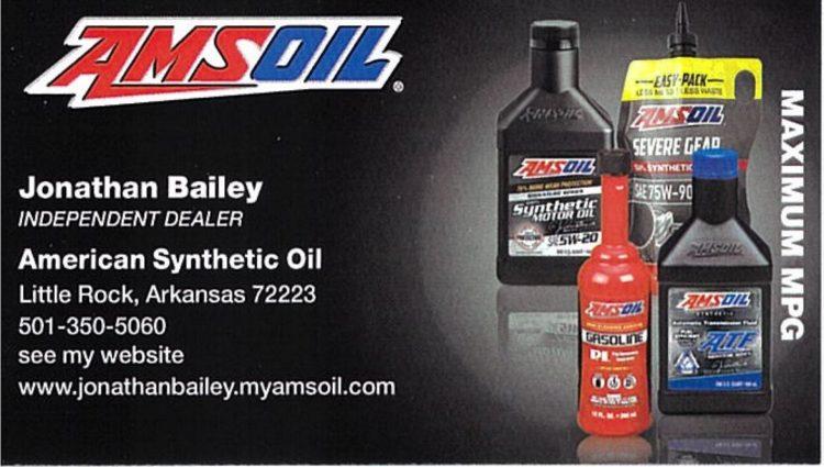AMS Oil - Jonathan (John) Bailey, Independent Dealer - American Synthetic Oil Little Rock Arkansas 72223 501-350-5060 https://jonathanbailey.myamsoil.com/